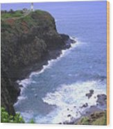 Kilauea Lighthouse And Bird Sanctuary Wood Print
