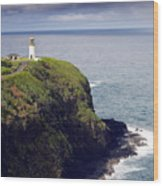 Kilauea Lighthouse On Kauai Hawaii Wood Print