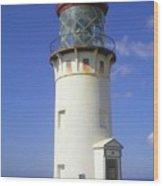 Kilaueau Lighthouse Wood Print