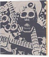 Kill The Music Industry Wood Print