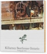 Killarney  Ontario Boathouse Poster Series Wood Print