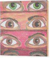 Killer Eyes Wood Print
