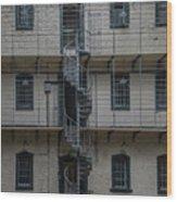 Kilmainham Gaol Spiral Stairs Wood Print