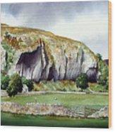 Kilnsey Crag Wood Print