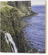 Kilt Rock On The Isle Of Skye Wood Print