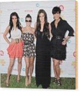 Kim Kardashian, Kourtney Kardashian Wood Print by Everett