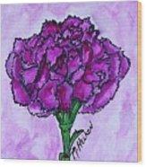Kimmy's Carnation Wood Print