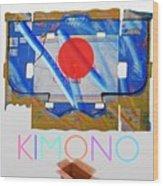 Kimono Poster Wood Print