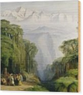 Kinchinjunga From Darjeeling Wood Print