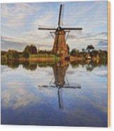 Kinderdijk Wood Print