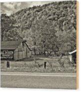 Kindred Barns Sepia Wood Print
