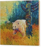 Kindred Spirits - Kermode Spirit Bear Wood Print