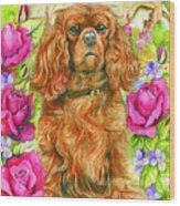 King Charles Spaniel Wood Print