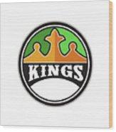 King Crown Kings Circle Retro Wood Print