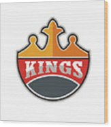 King Crown Kings Retro Wood Print