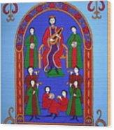 King David And His Musicians Wood Print