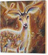 King-deer Wood Print