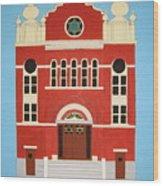 King Edward Street Shul Wood Print