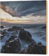 King Island Sunset Wood Print