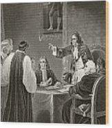 King James II Of England Facing Bishops Wood Print