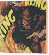 King Kong Wood Print by Georgia Fowler
