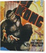 King Kong Poster, 1933 Wood Print by Granger