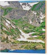 King Lake At Rollins Pass T Wood Print