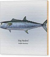 King Mackerel Wood Print by Ralph Martens