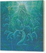 King Neptune Wood Print