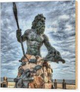 King Neptune Virginia Beach  Wood Print