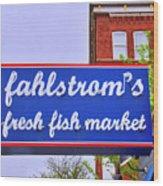 King Of Fish Fish Market  Wood Print