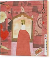 King Of Hearts Wood Print