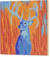 King Of The Fall Wood Print