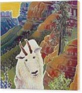 King Of The High Peaks Wood Print
