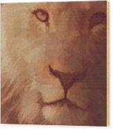 King Of The Jungle Wood Print