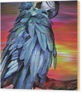 King Parrot 01 Wood Print
