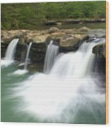 King River Falls Wood Print