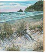King Tide-whangamata Nz Wood Print