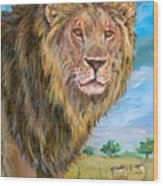 Kingdom Of The Lion Wood Print