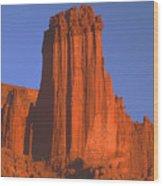 612706-kingfisher Tower  Wood Print