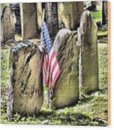 King's Chapel Cemetery  Wood Print