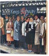 Kings Highway Subway Station Wood Print