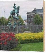 Kings Square Statue Of Christian 5th Wood Print
