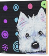Kiniart Disco Westie Wood Print