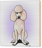 Kiniart Poodle Wood Print