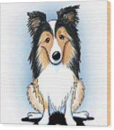 Kiniart Sheltie Wood Print