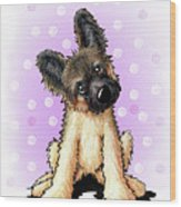 Kiniart Shepherd Puppy Wood Print