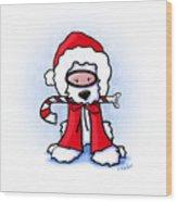 Kiniart Snorkel Westie Santa Wood Print