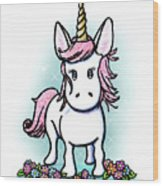 Kiniart Unicorn Sparkle Wood Print