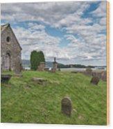 Kinross Cemetery On Loch Leven Wood Print